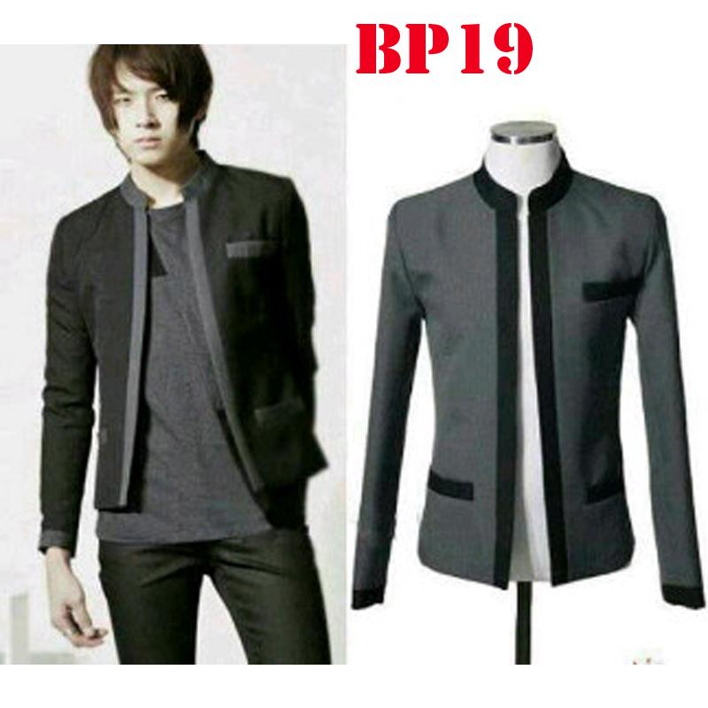 New Mens Blazer Korean Style Fashion Jaket Casual Pria