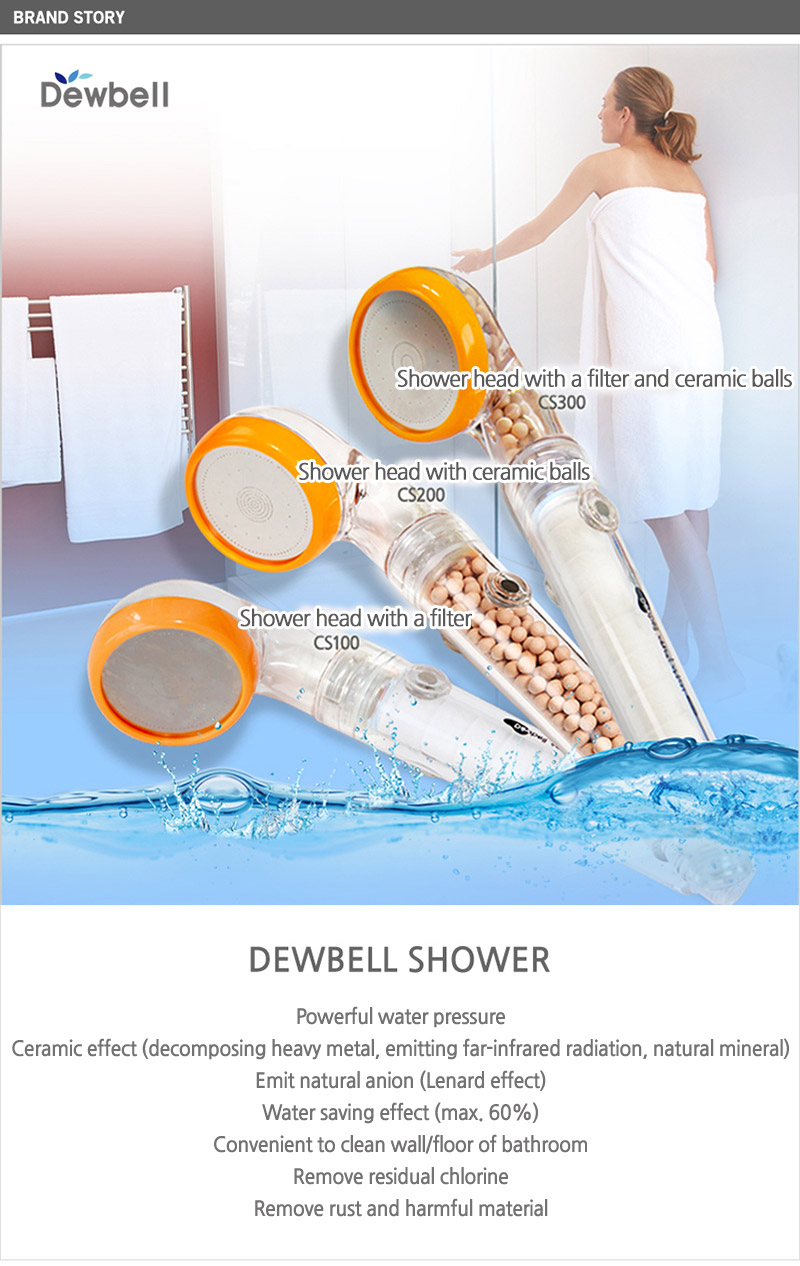 buy dewbell shower head with filter an ceramic balls remove rust residual chlorine harmful. Black Bedroom Furniture Sets. Home Design Ideas