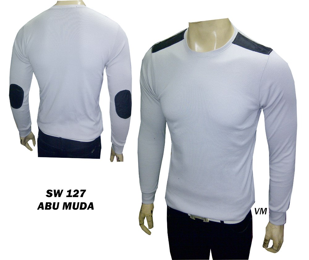 Every Need Want Day Kaos Pria Lengan Pendek Basic White Shirt Tangan Panjang Polos Sikut Bahan Katun Freesize