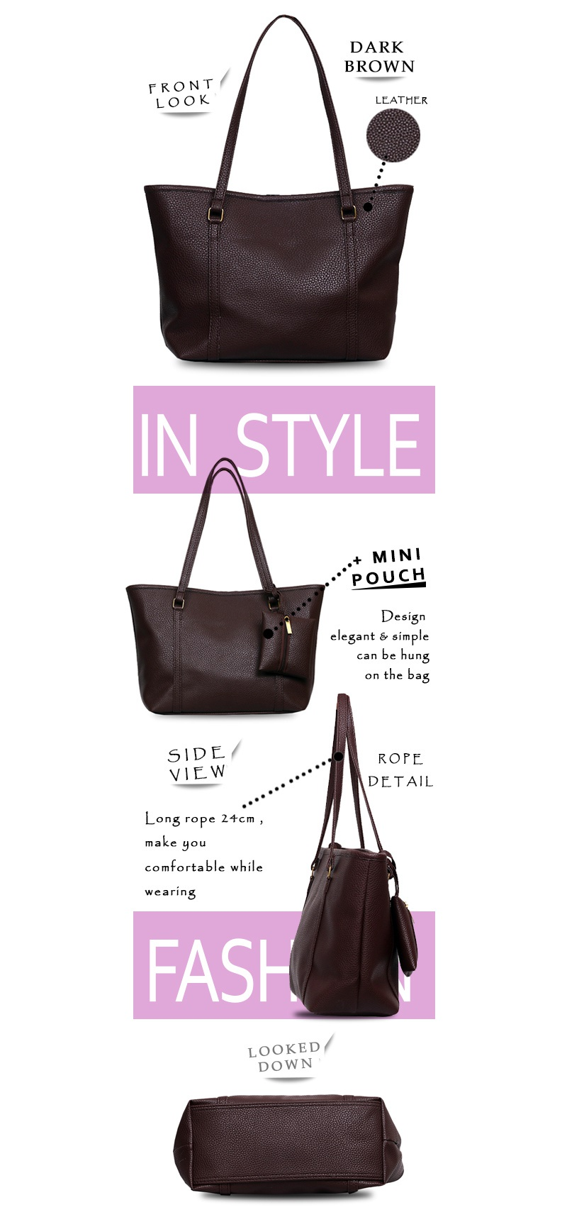 Buy Quincylabel Tote Bags Collection Deals For Only Rp120000 Croco Himalayan Bag Dark Blue Black
