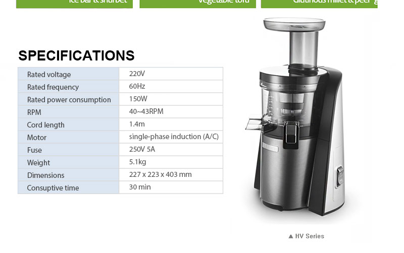 Slow Juicer Technology : Hurom 2015 2.5nd Gen New Arrival HvS-STF14 Hv-STF14 Swarovski slow squeezing technology HvS ...