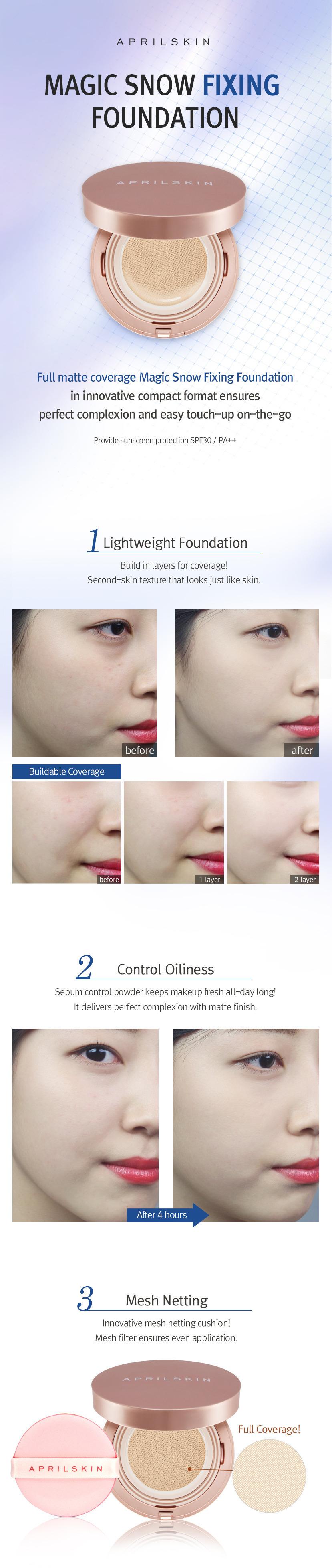 Buy Aprilskinlowest Priceapril Skin Fixing Eye Shield Lip April Magic Cushion Snow Black Versi 20 Highlights