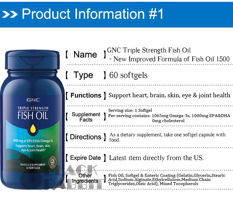 Buy brain eye joint gnc triple double strength fish oil for Fish oil for joints
