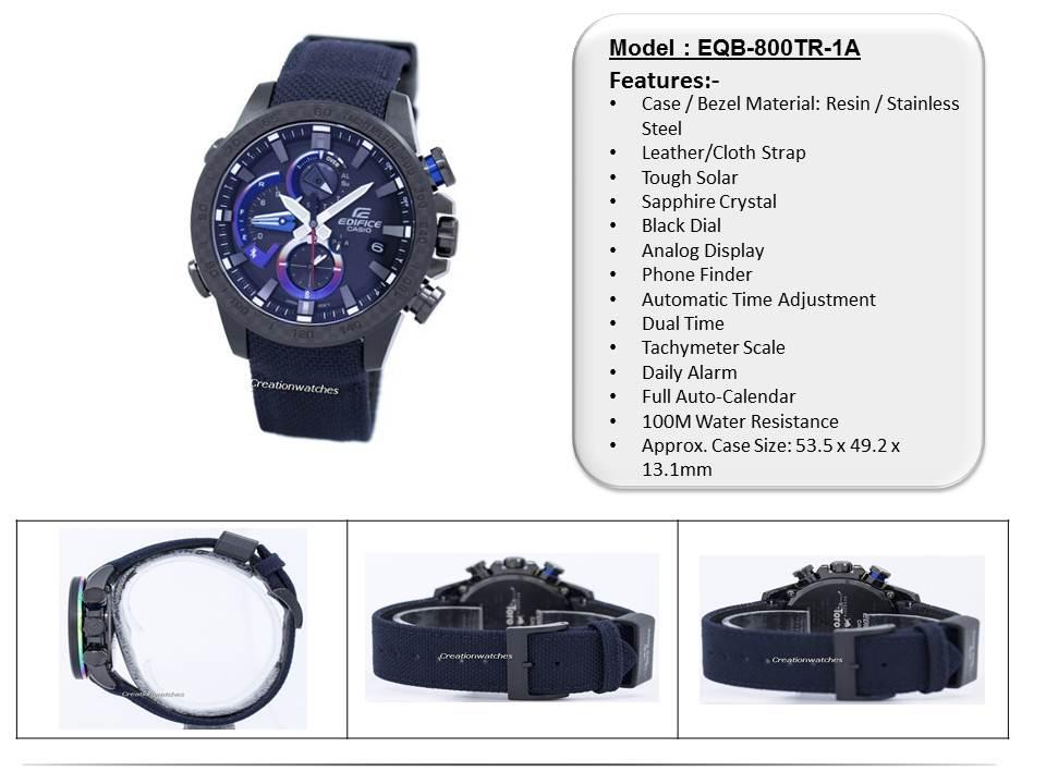 f51d774a54d  CreationWatches  Casio Edifice Scuderia Toro Rosso Limited Edition EQB-800TR-1A  Mens Watch
