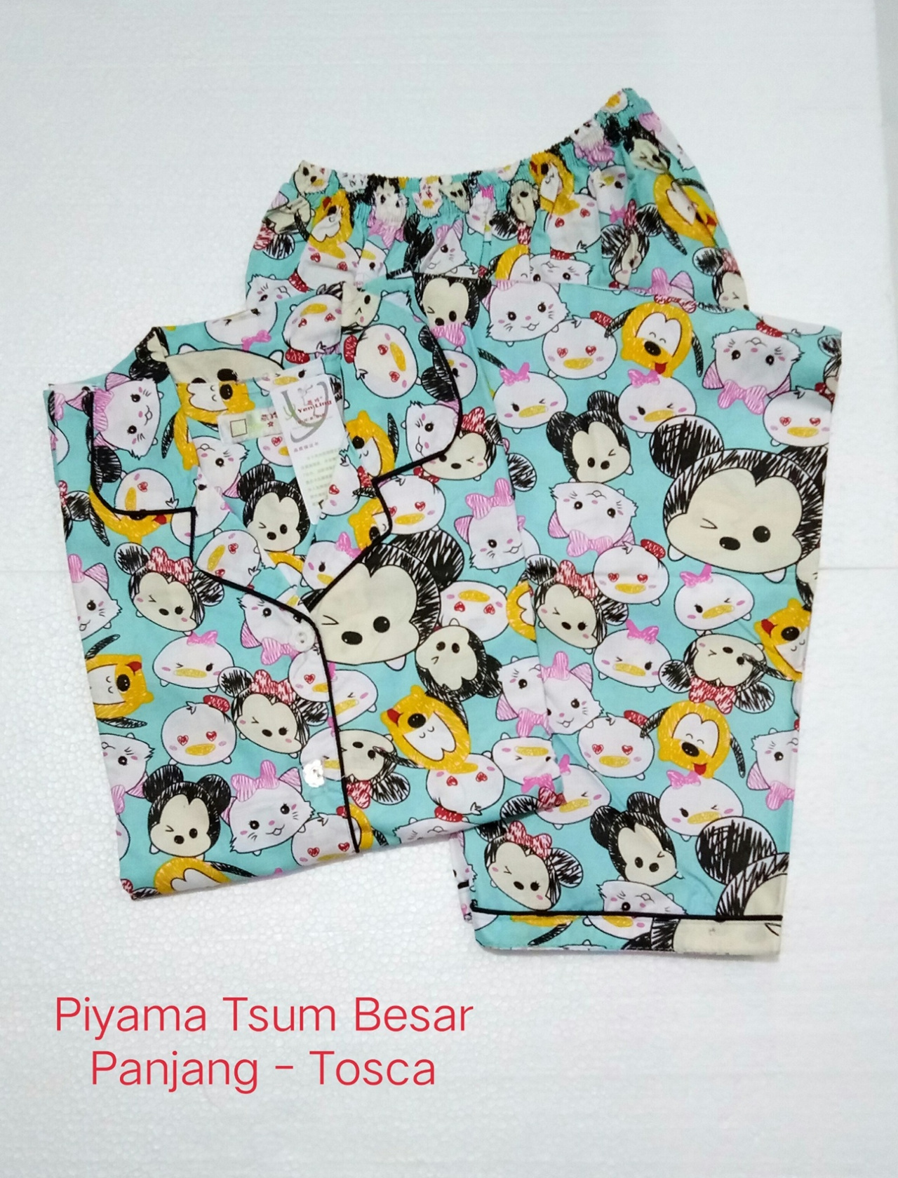 Fortune Fashion Piyama CP Tsum Besar Bahan Katun Tebal Adem dan Halus Fit to XL Ld 104cm. Busui Friendly Best Quality
