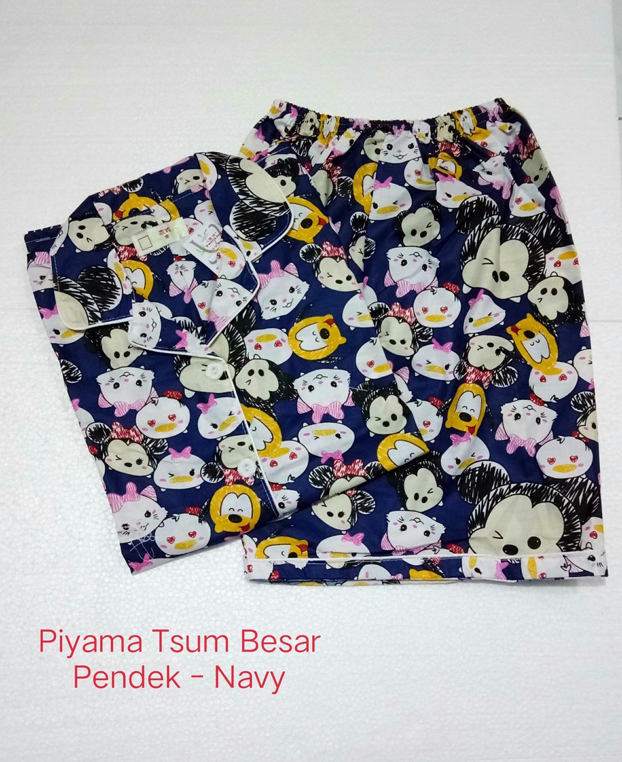 Fortune Fashion Piyama Tsum Besar Pendek Bahan Katun Jepang Fit to XL Ld 104cm. Busui