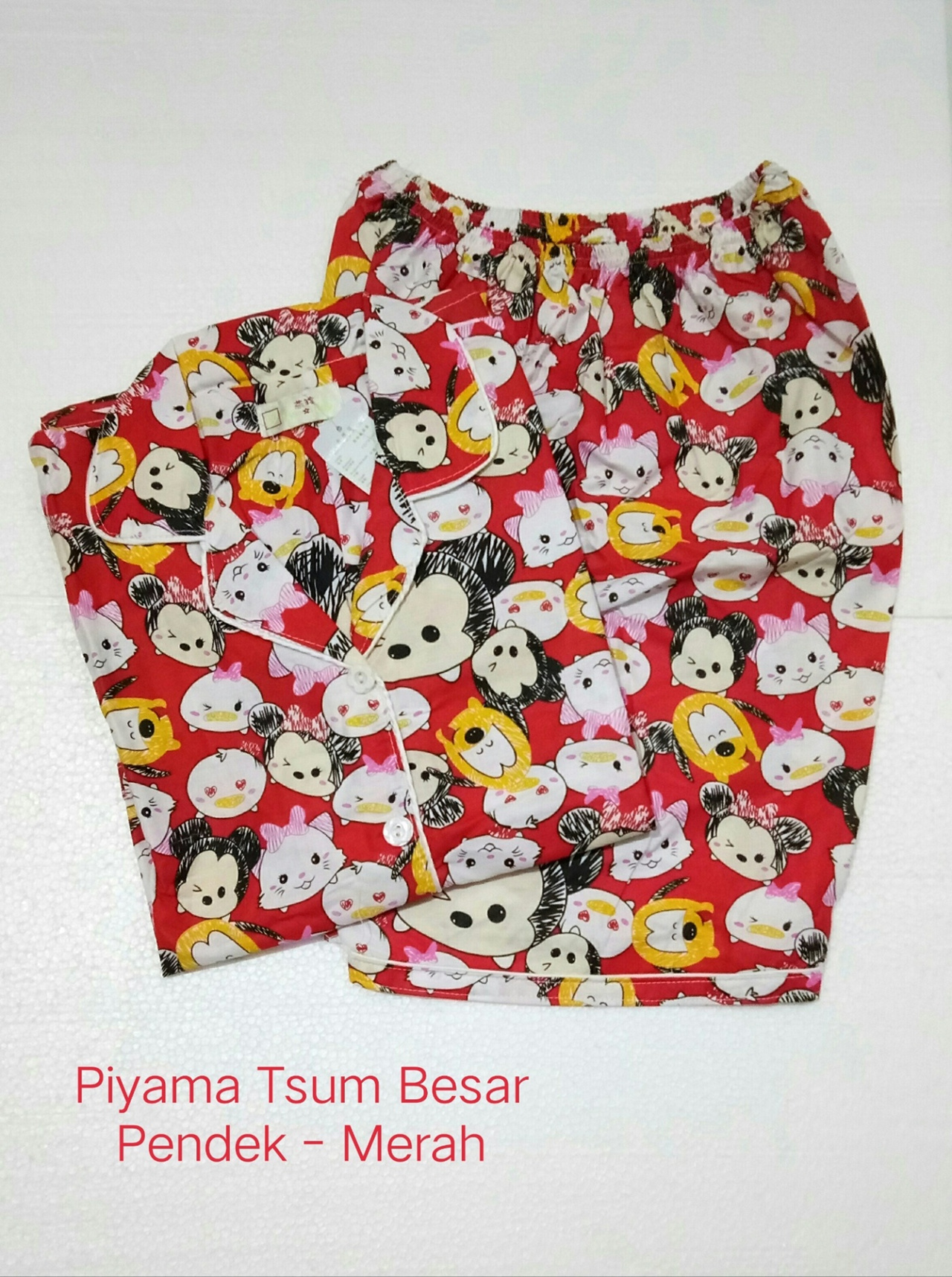 Fortune Fashion Piyama Tsum Besar Pendek Bahan Katun Jepang Fit to XL Ld 104cm. Busui Friendly Celana Pendek Best Quality