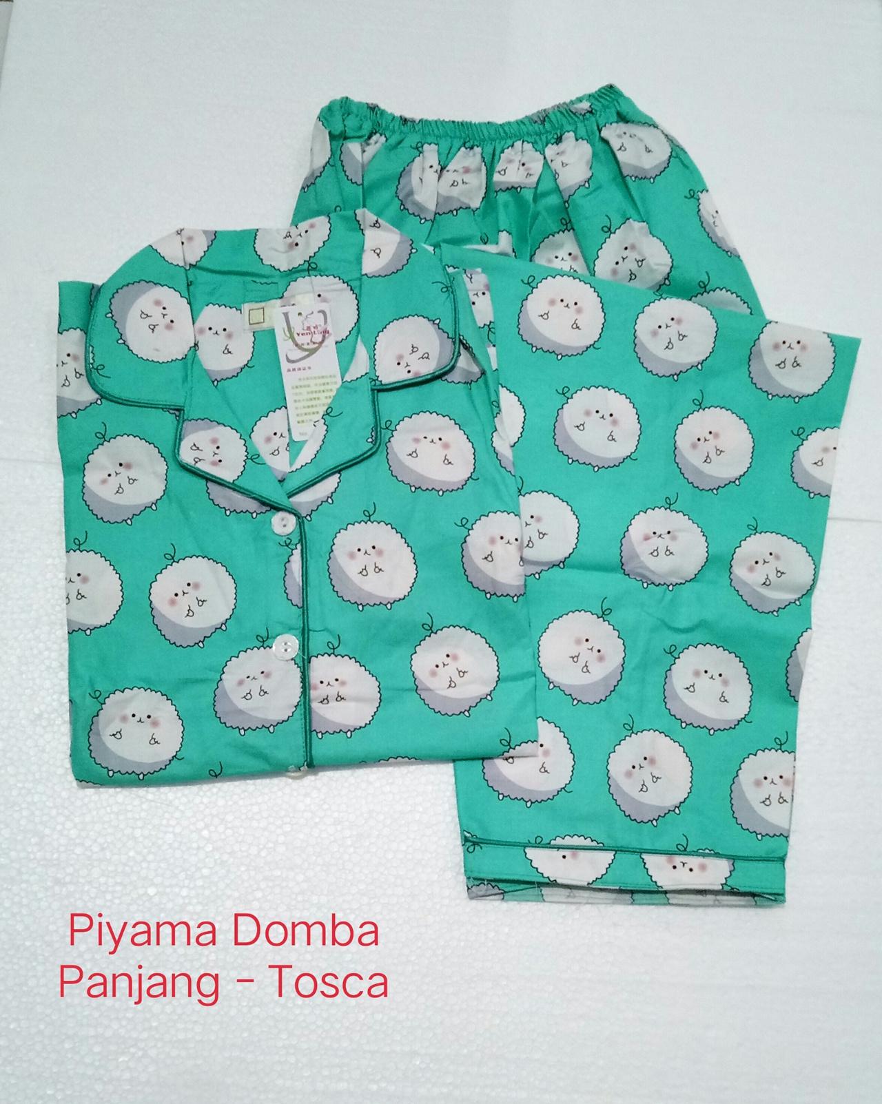 Fortune Fashion Piyama Domba Panjang Bahan Katun Jepang Tebal Fit to XL Ld 104cm. Busui