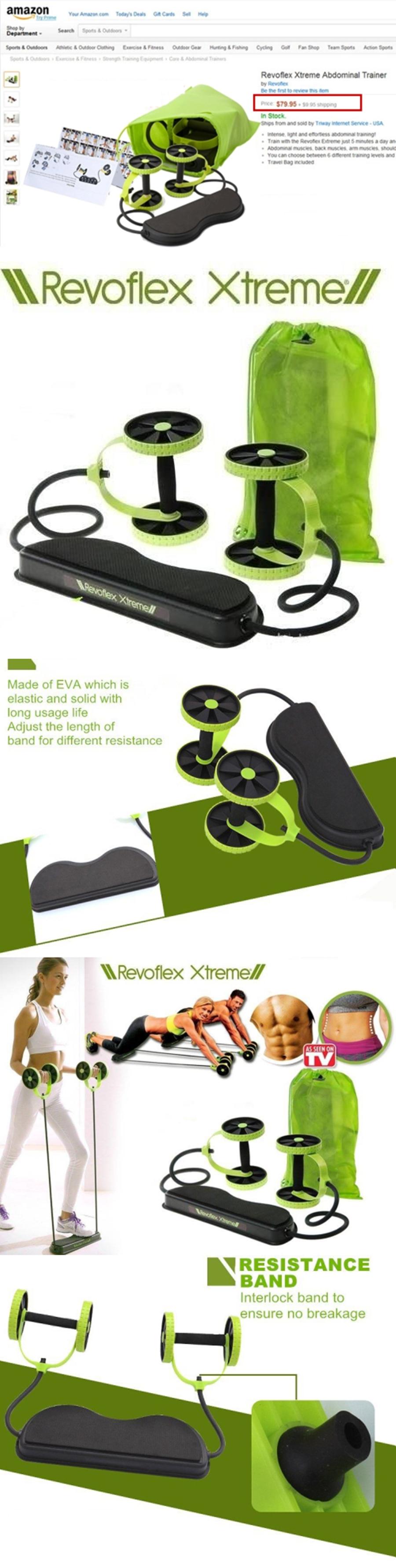 Buy Revoflex Extreme Revoflex Xtreme Home Gym Abs Machine Resistance Band Workout