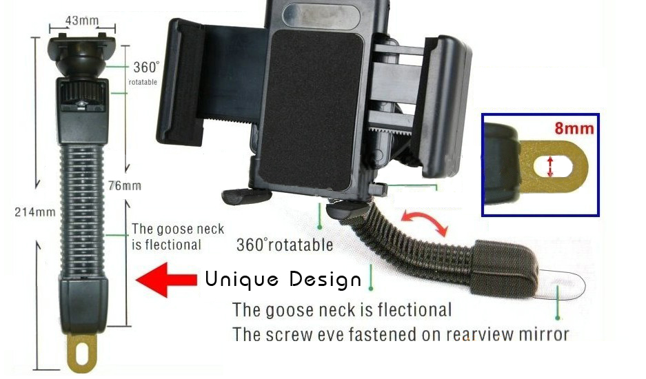 Phone Holder Automatic Grip 360 Universal Holder untuk Sepeda Source · Holder Motor Universal Motorcycle Universal Holder