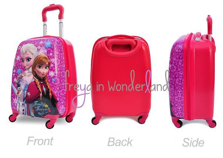 Cartoon Cute Suitcase Kids Luggage Frozen Pink | Lazada Singapore