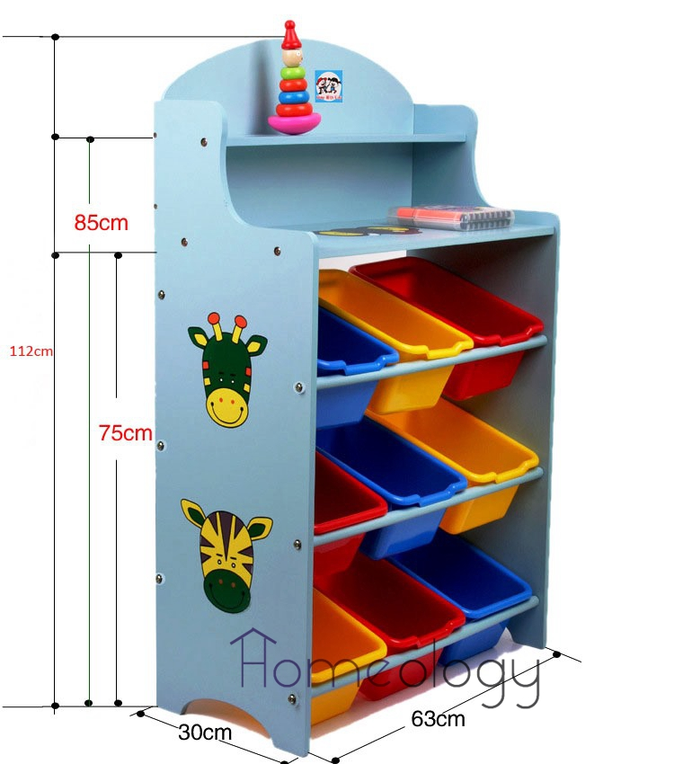 Buy kids toy rack organizer cabinet storage book shelf for Case container 974