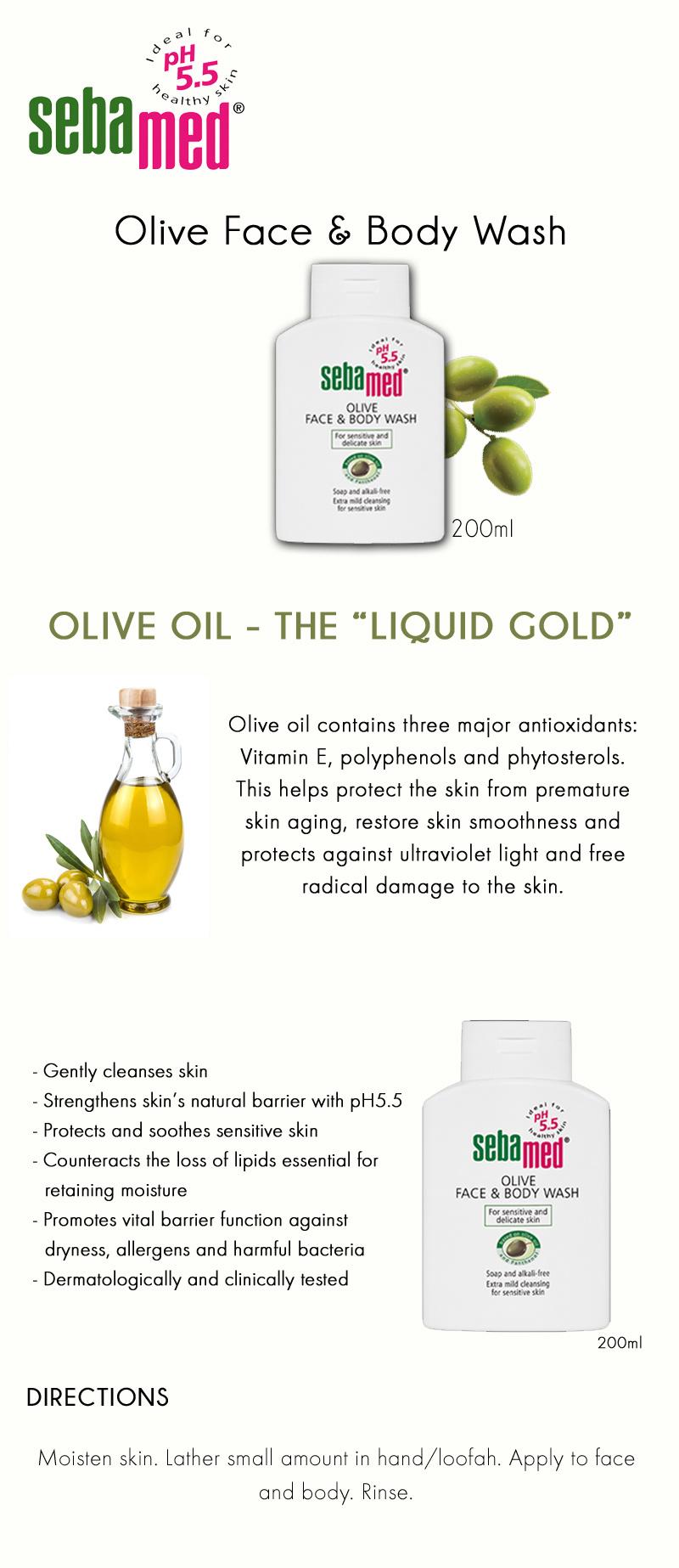 Every Need Want Day Sebamed Face Body Wash 200 Ml Olive And 200ml Sensitive Skin Ph 55 Vitamin E Natural