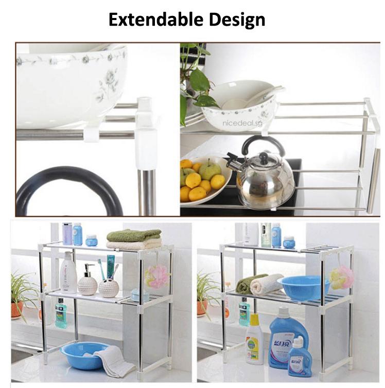 Kitchen Shelf Arrangement: Buy Space Arrangement Frame/ Kitchen Rack 3 Tier/ Spicy