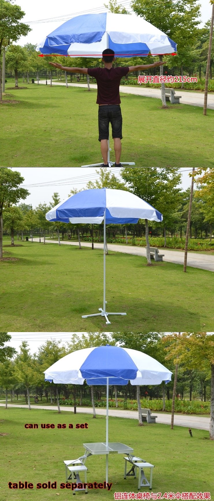 giant umbrella come with stand some sample photo if you need the table please click here: metre giant umbrella