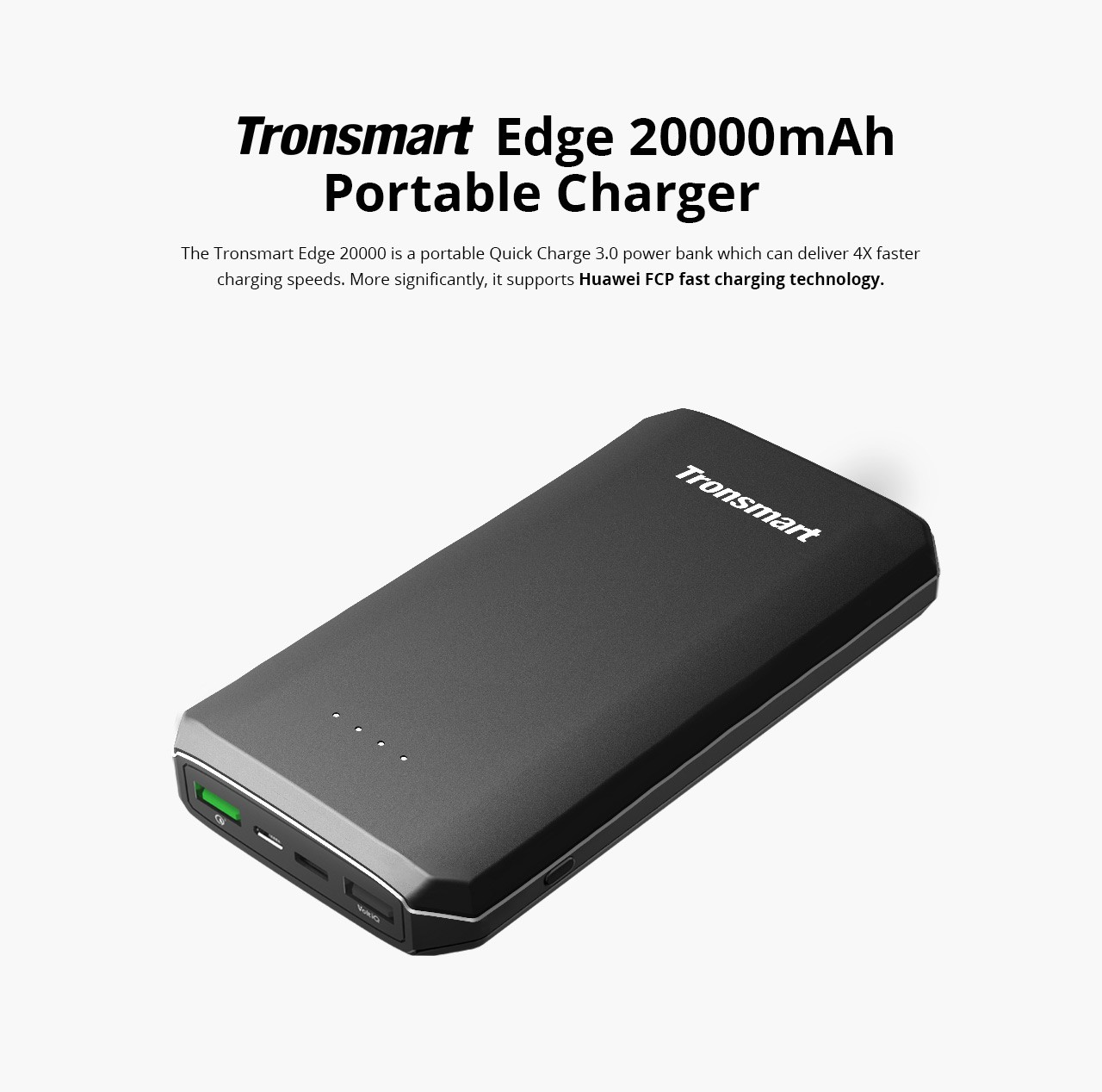 Every Need Want Day Tronsmart Presto Power Bank 1 Port Usb Type C 10400mah With Qualcomm Quick Charge 30 Pbt12 Black Product Includes 18 Month Worry Free Warranty