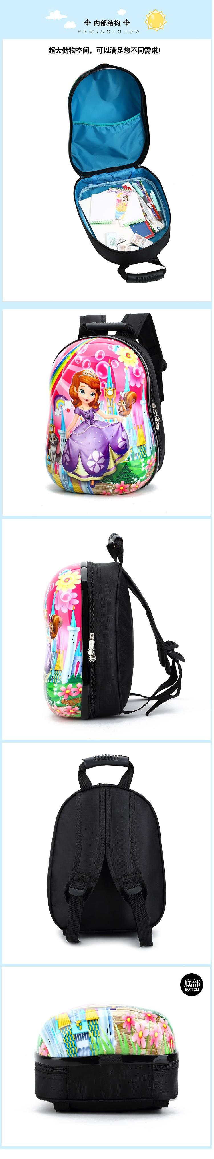 NEW ARRIVAL Micky Minnie Minion Sofia Cartoon child backpack 3D cute  kindergarten baby toddle bag 2b9f8f38a22