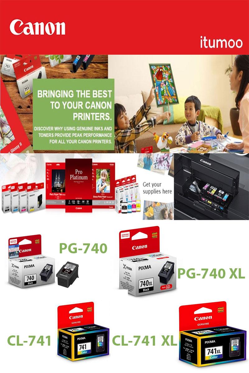 Buy Canon Ink 740 Original Cartridge Printer Black Color 741 740xl Highlights
