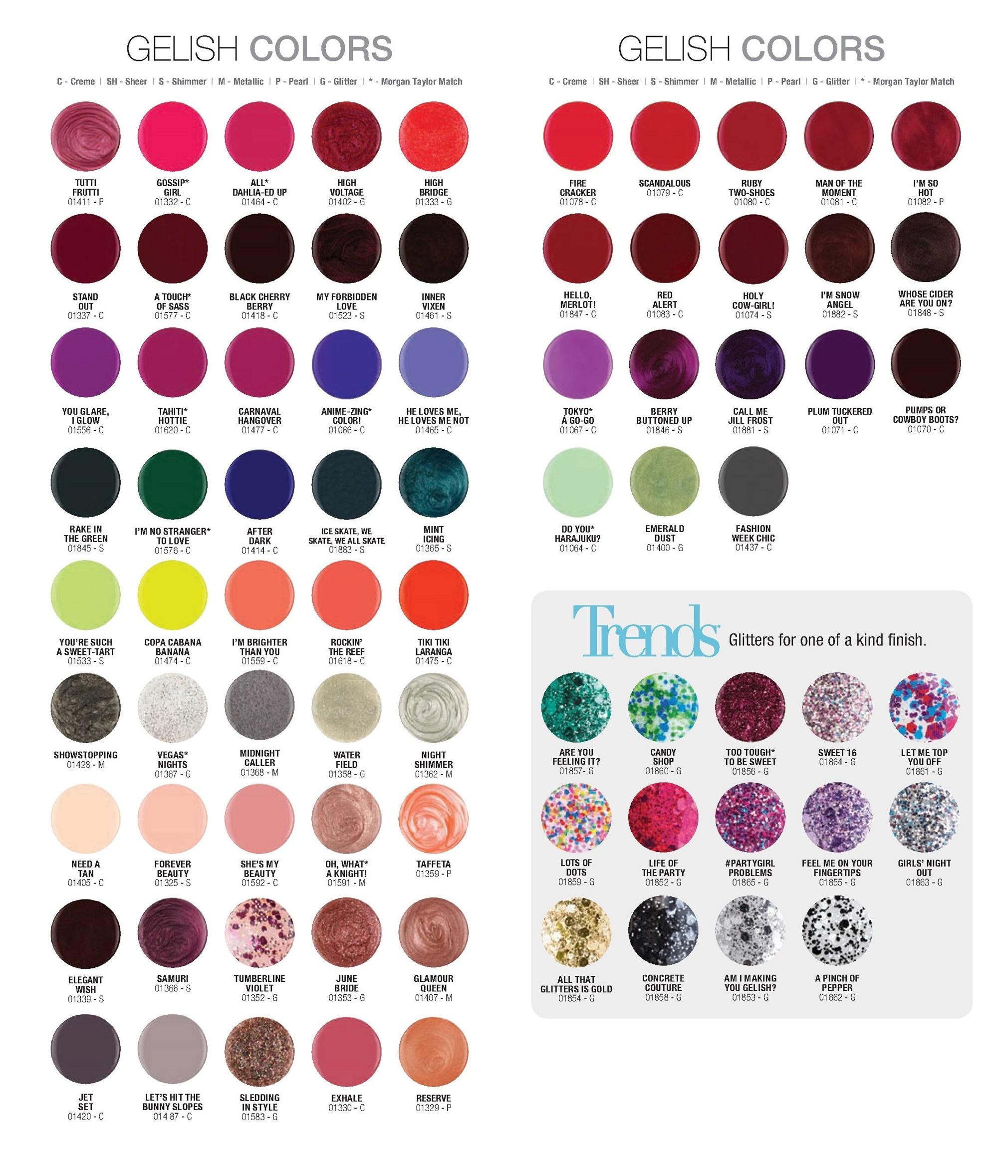 Buy 100 usa authentic original gelish color full range flat 155 gelish color chart geenschuldenfo Images