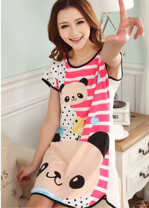 Buy Promotion Baju Tidur 9 Design Cotton Pajamas Cartoon Nightdress ... a5fa19cdcd