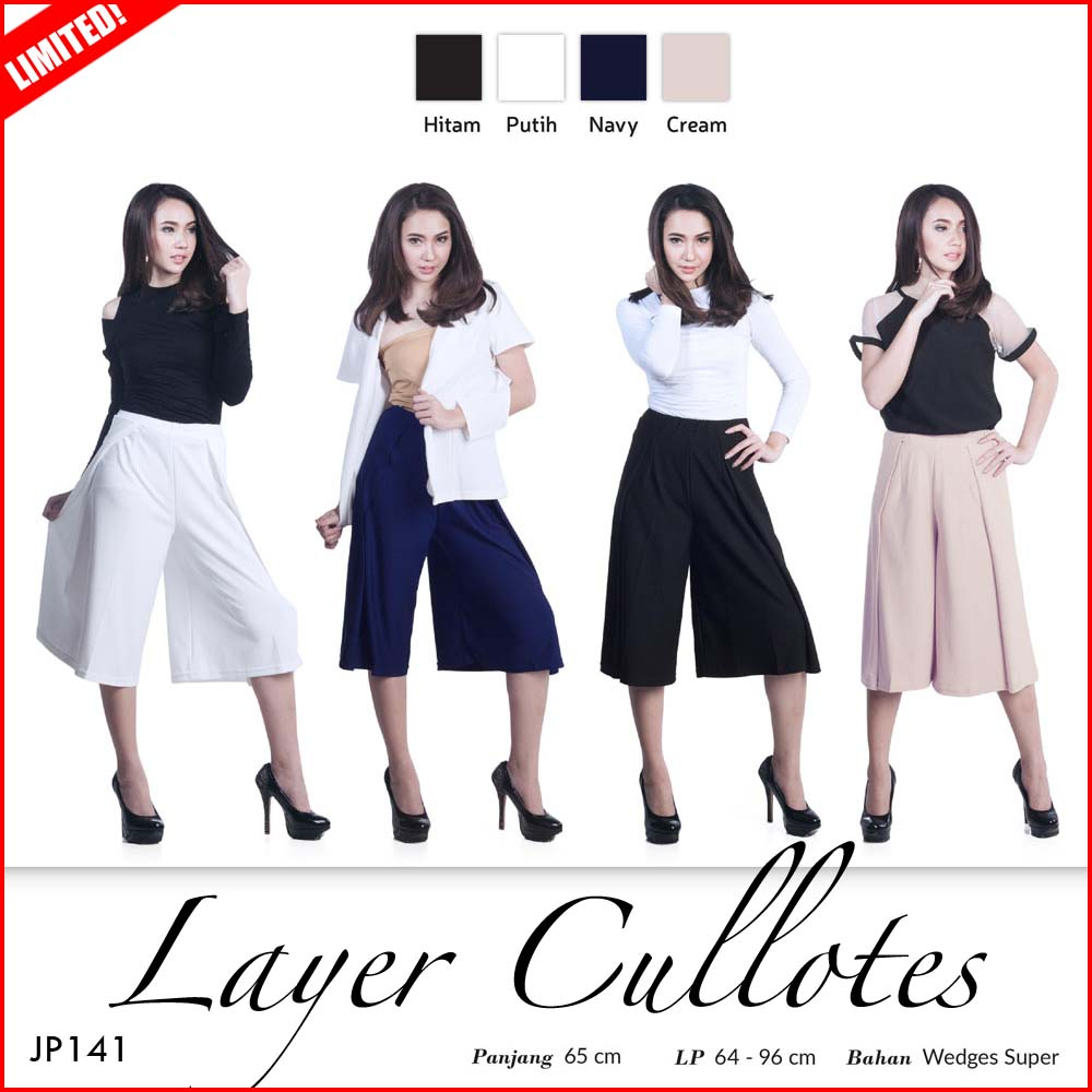 Buy Yoorafashion Celana Kulot Wanita /HIGH QUALITY/KULOT/PANTS Deals for only Rp75.000 instead of Rp75.000