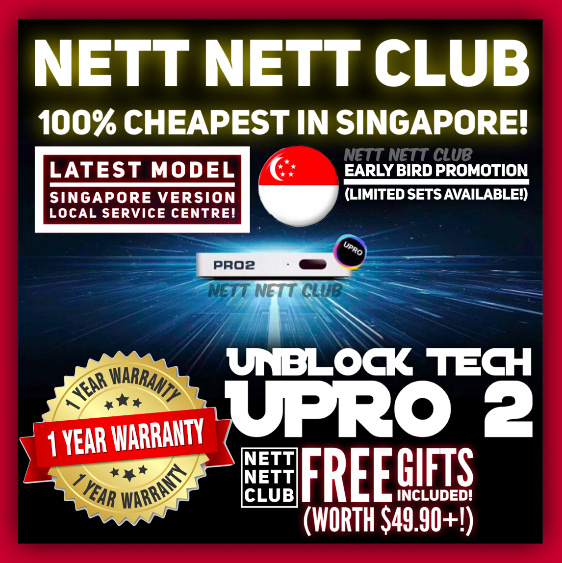 Buy #1 TV Box Unblock Tech UBOX GEN 4 / 5 / UPRO 2 | Lifetime Deals for  only S$399 instead of S$399