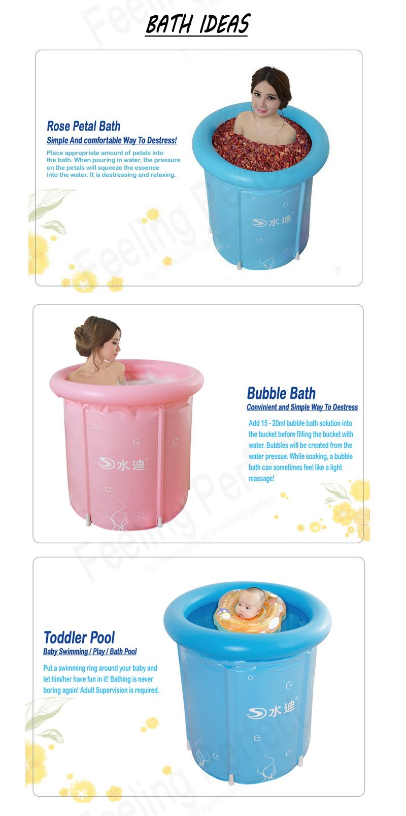 buy foldable bath bucket inflatable bathtub health singapore baby swimming tub bathroom soak tub. Black Bedroom Furniture Sets. Home Design Ideas