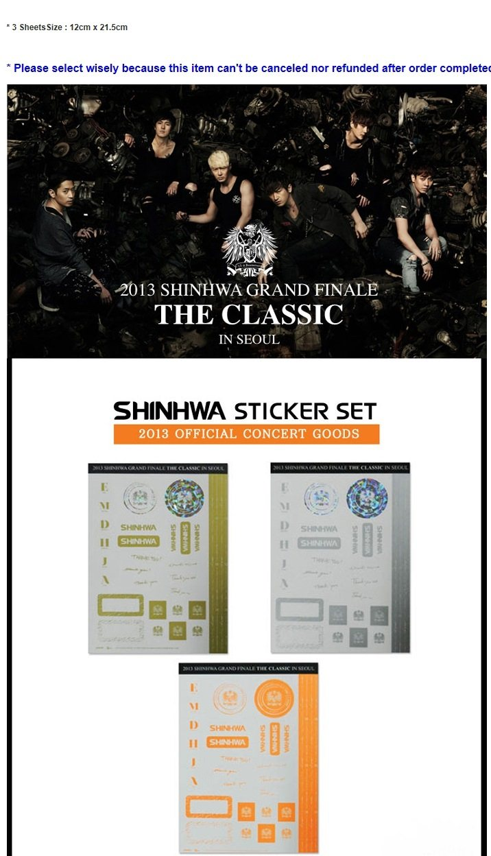 [SHINWHA] Official Goods (sticker set)