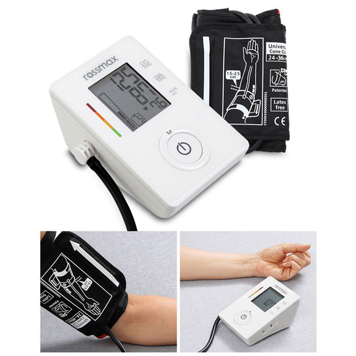 how to use rossmax blood pressure monitor