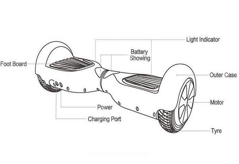 smart electric scooter balancing 2 wheels air wheel