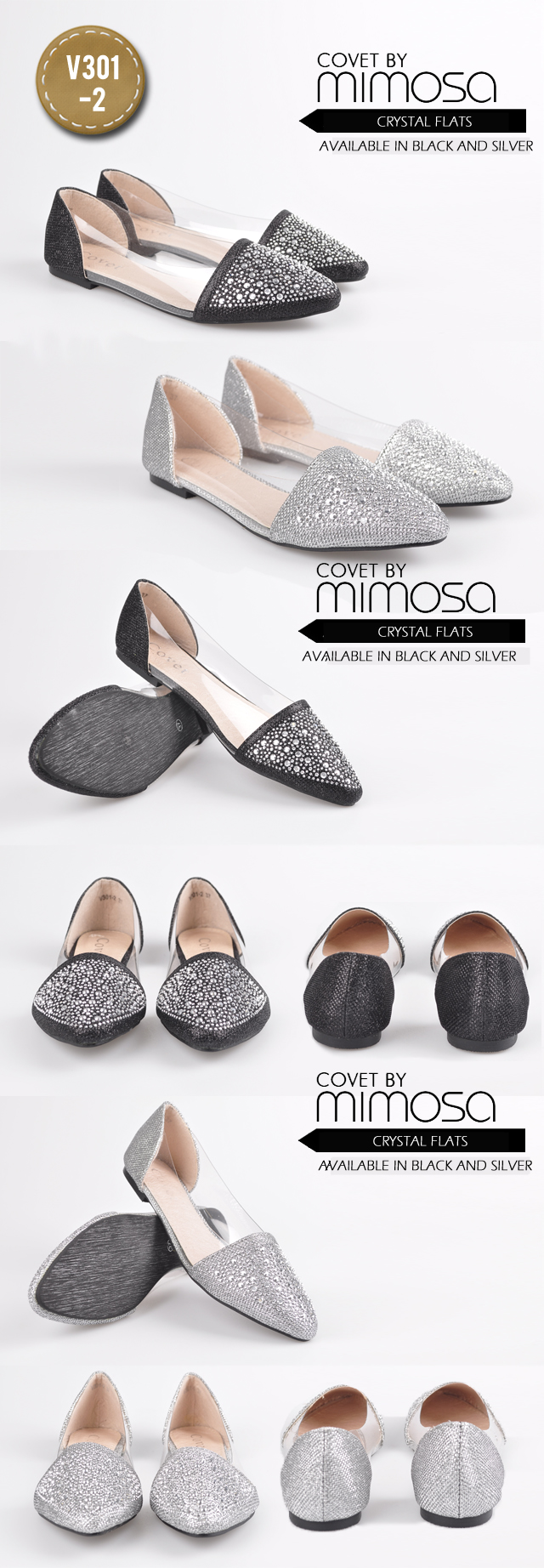 Buy Covet By Mimosa Flats Collection Heels Wedges Sandals ...