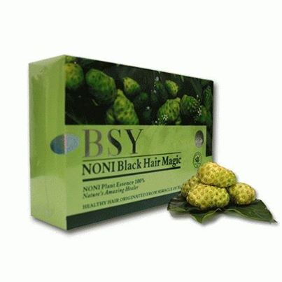 BSY NONI SHAMPOO WHITE HAIR BECOMES BLACK ONLY IN 10 MINUTES MADE FROM NATURAL INGREDIENTS (FDA APPROVED IN OUR COUNTRY) 20X20 ml SACHETS