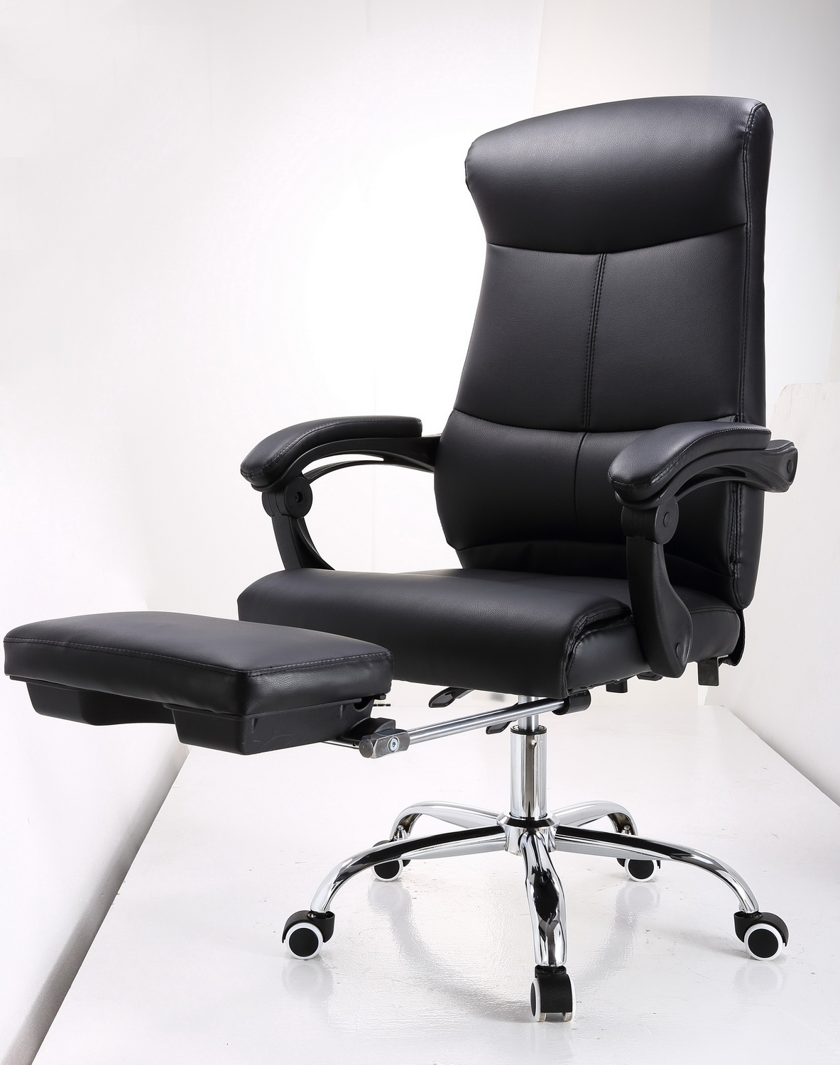 J86 brown ergonomic high back rest pu leather office chair for 1x super comfort recliner chaise