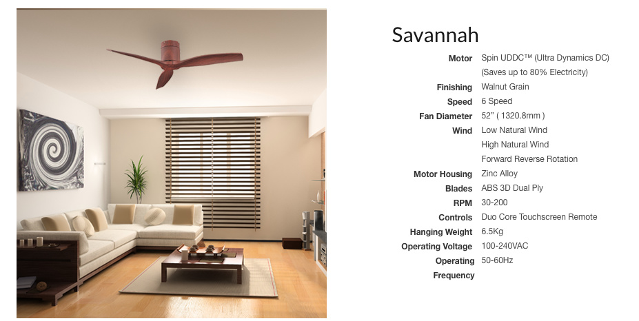 Savannah 52inch ceiling fan dc motor local warranty mega spin 52 savannah dc motor ceiling fan remote local warranty 1 year parts 10 years on motor mozeypictures Gallery