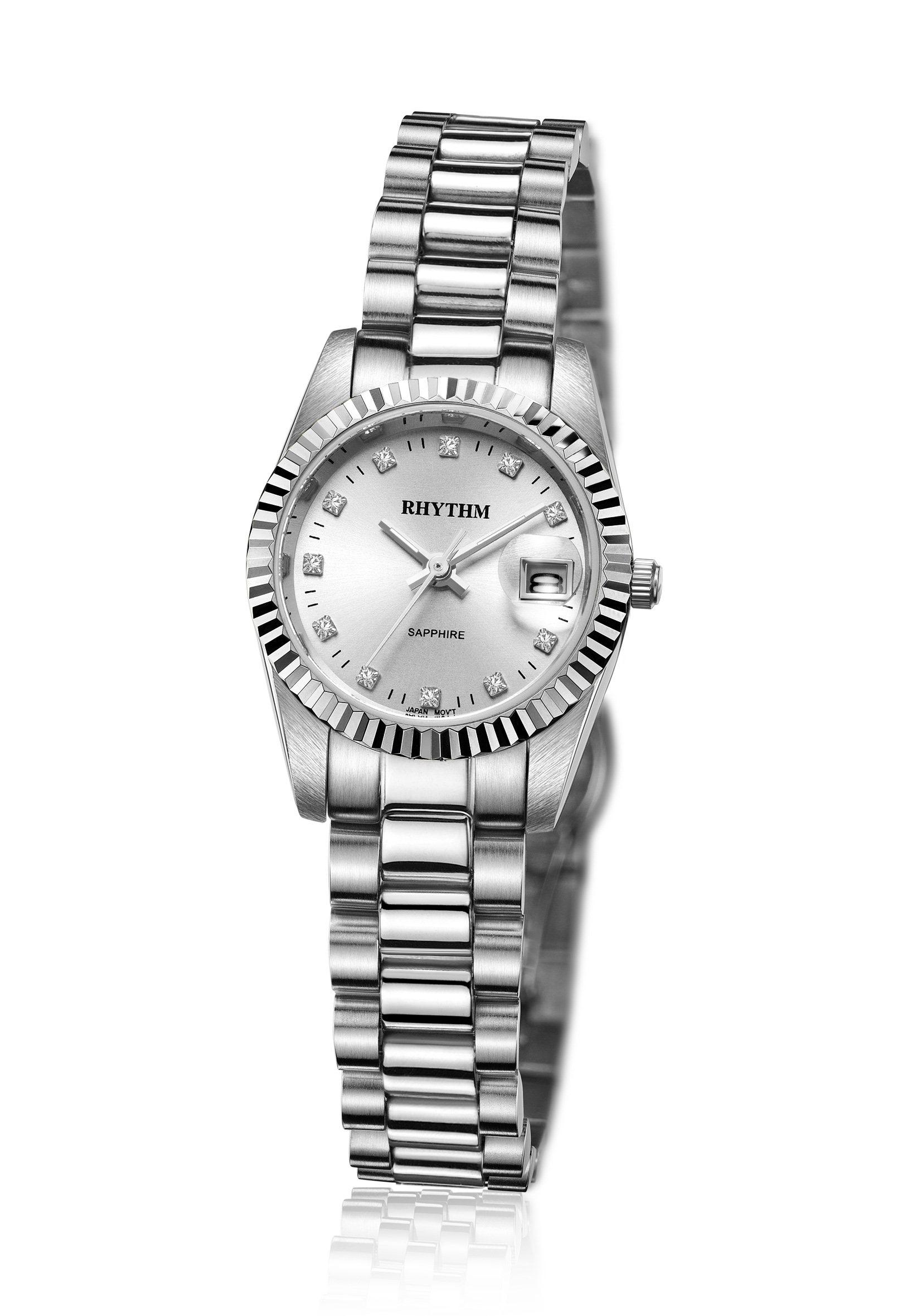 Rhythm Traditional Collection R1204s 01 Jam Tangan Wanita Daftar Global Timepiece Rq1611s 07 Pria Silver Putih R1202s Man
