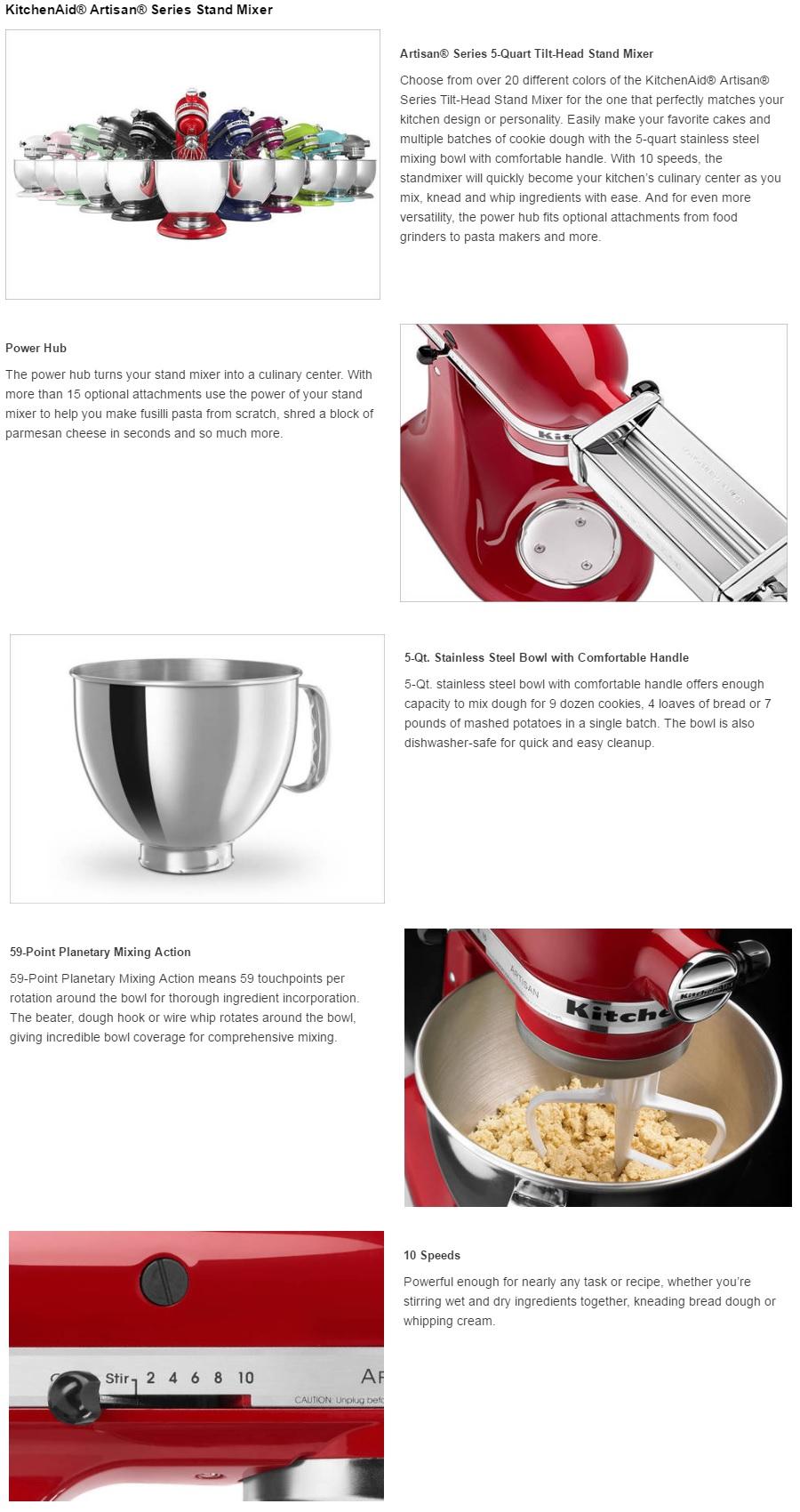 Buy *FREE GIFT WORTH UPTO $329* KitchenAid Artisan Stand Mixer ...