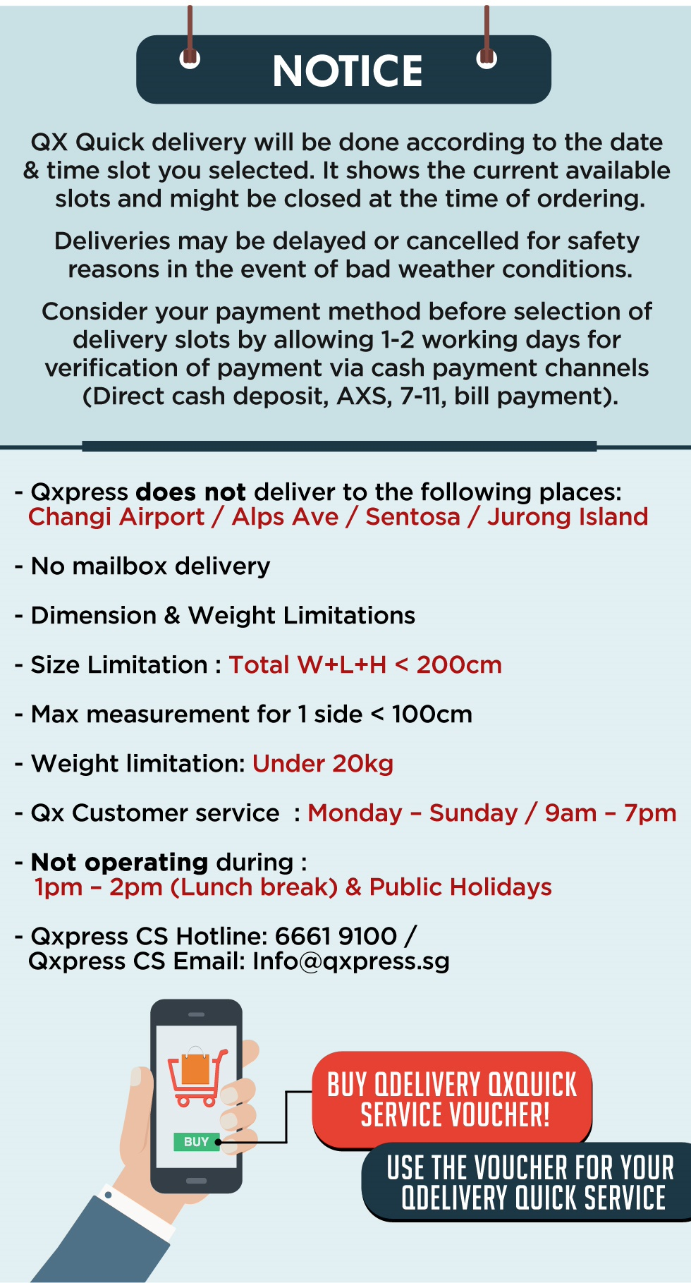fd58d10e928 Qx Quick Service Voucher [ Value S$ 9.99 / Up to 20 kg] Only for Local  Delivery (Singapor