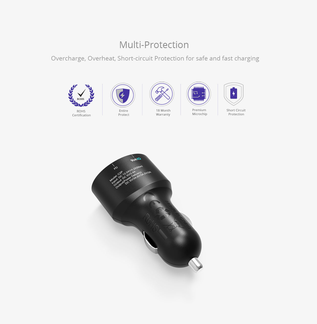 Car Charger Mfi Certified And Quick Charge