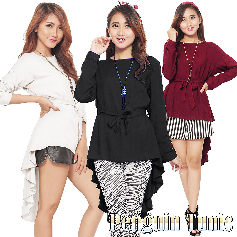 Buy Atasan Lengan Panjang Deals For Only Rp60000 Instead Of Rp69000 Marina Ribbon Longsleeve Top Sr0410 01 3 Models Blouse Tunik Hijab Style