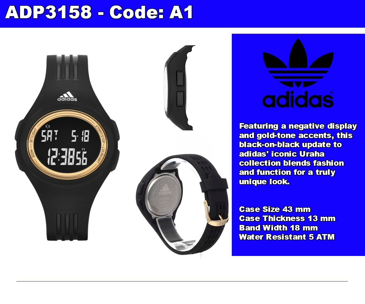 Adidas Watch Performance Grey Polyurethane Case Rubber Strap Mens Us Adh3134 Jam Tangan Pria Hitam Highlights