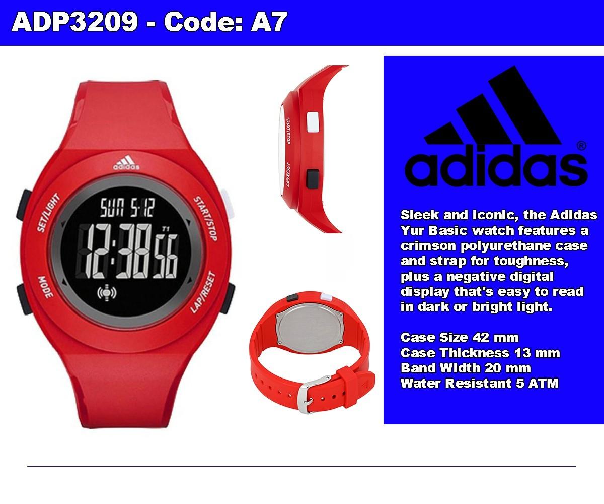 Adidas Watch Performance Duramo Black Polyurethane Case Rubber Strap Adh2912 Jam Tangan Unisex Hitam Highlights