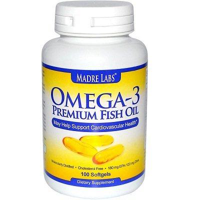 Madre labs omega 3 premium fish oil 180 mg epa 120 mg dha for Fish oil bipolar