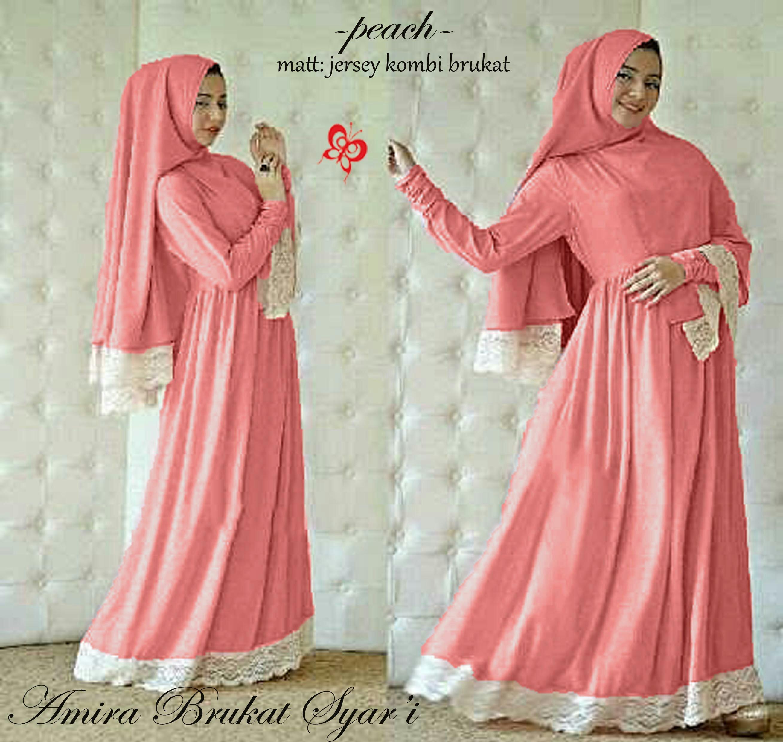 Gamis kaftan maxi muslim fashion best seller baju Baju gamis kaftan putih