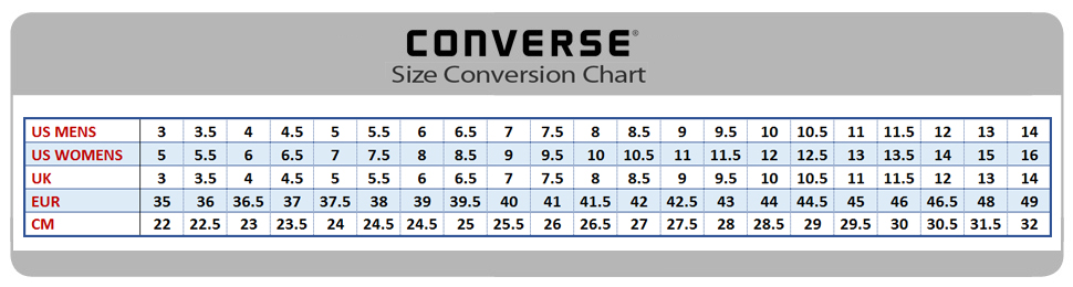 converse shoes guide