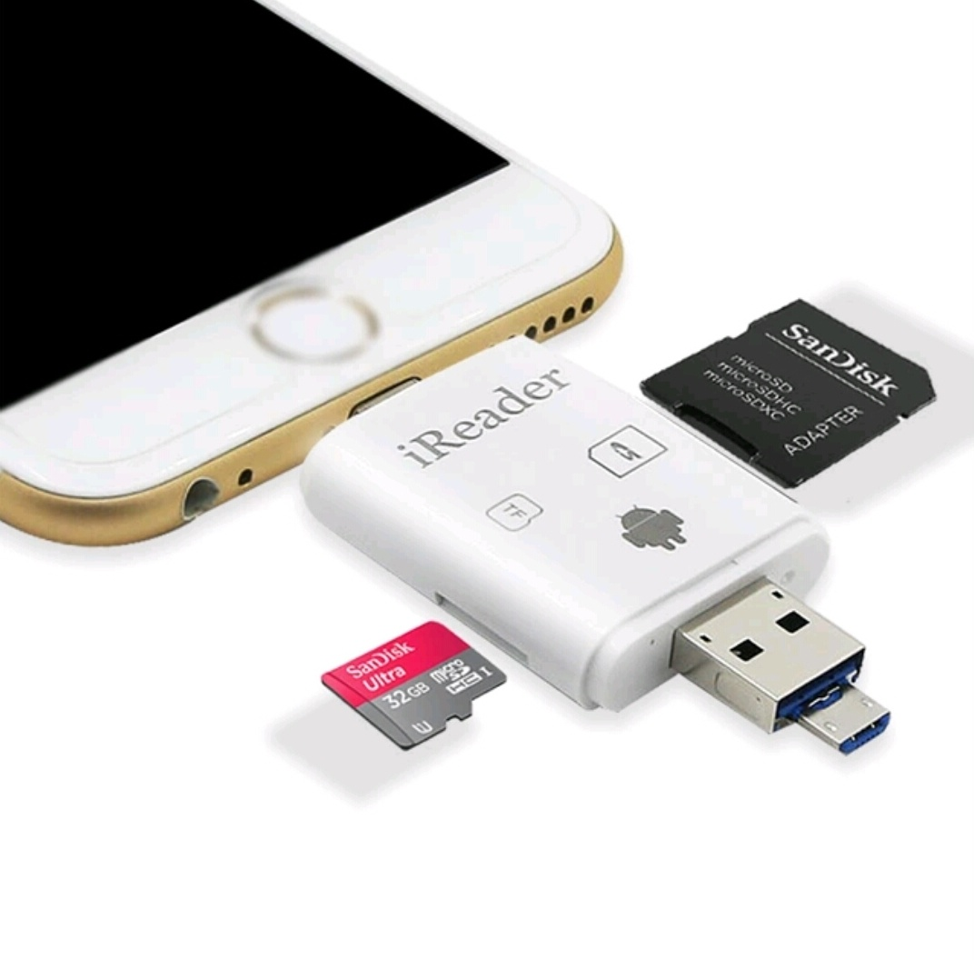 Every Need Want Day Iflash Device Hd Drive Otg Card Reader For Iphone Ipad 3 In 1 Usb Compatible With Tf And Sd