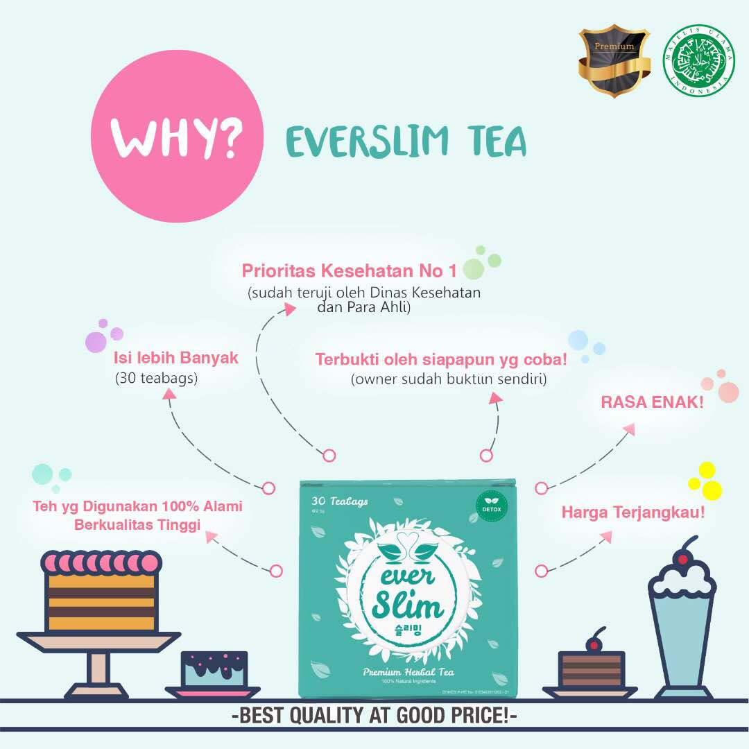 Every Need Want Day 1 Box Isi 30 Sachets Premium Tea To Lose Weight And Burn Fat