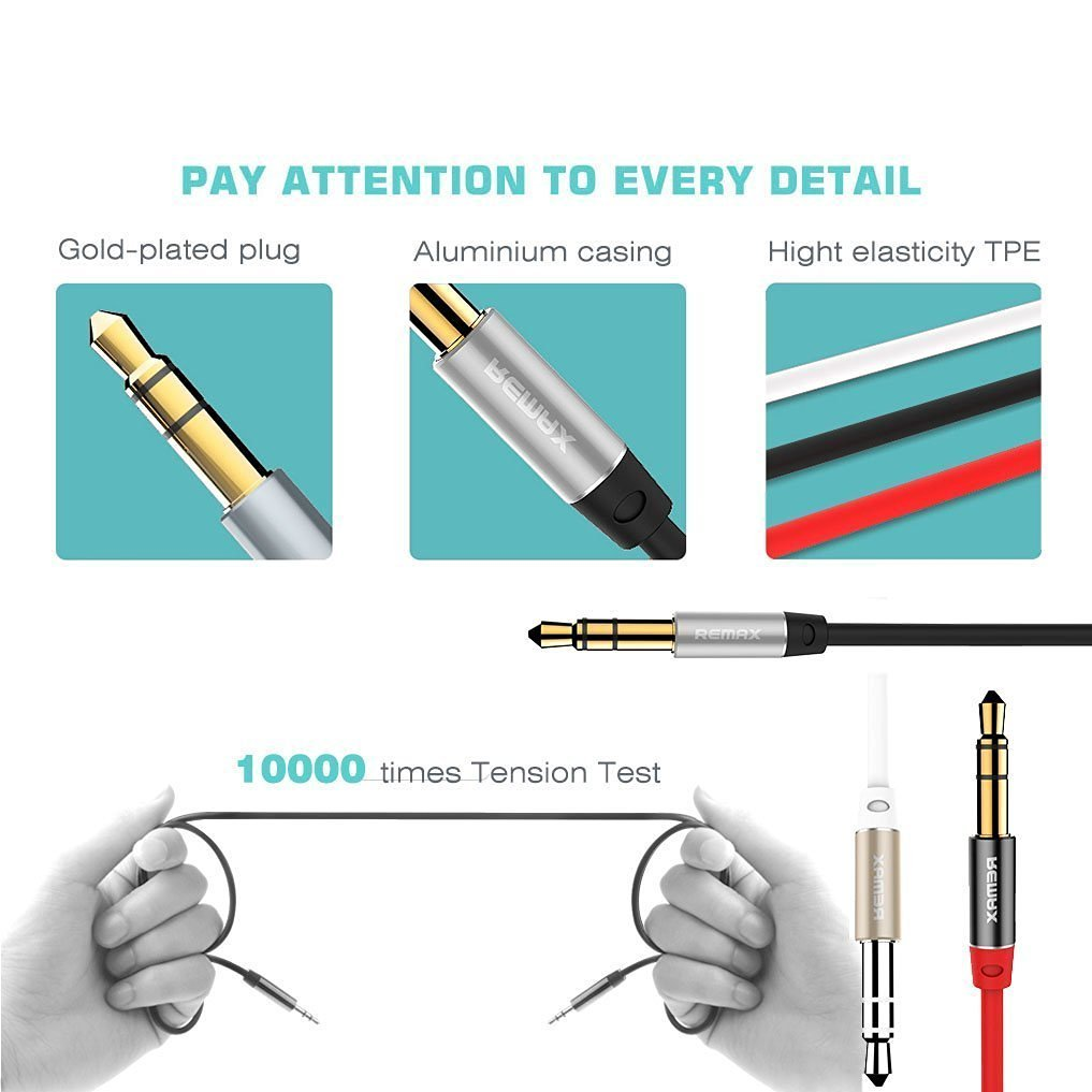 Every Need Want Day Remax Aux Audio Cable Rl 20s