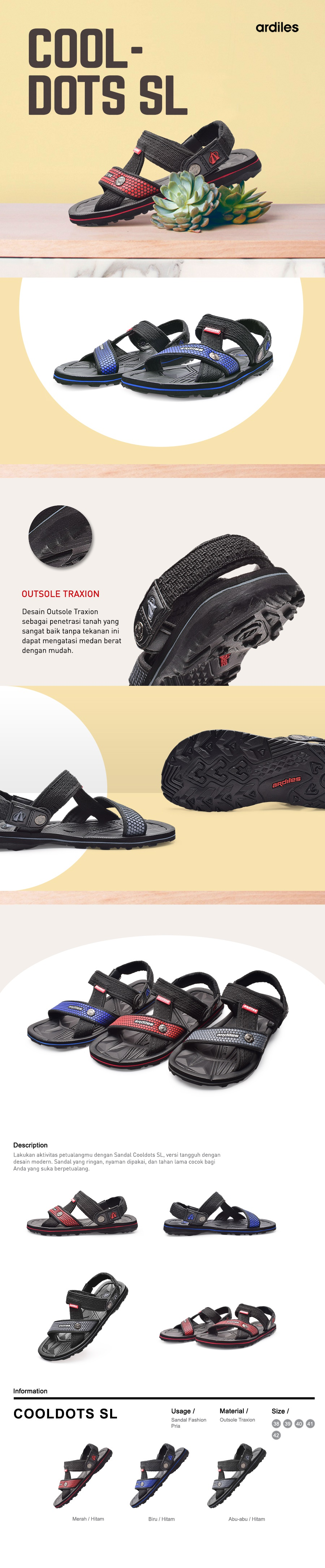 Buy Ardiles Best Seller Unisex Sandal And Slippers Deals For Only Men Dual On Fashion Hitam Abu 41 Opsi