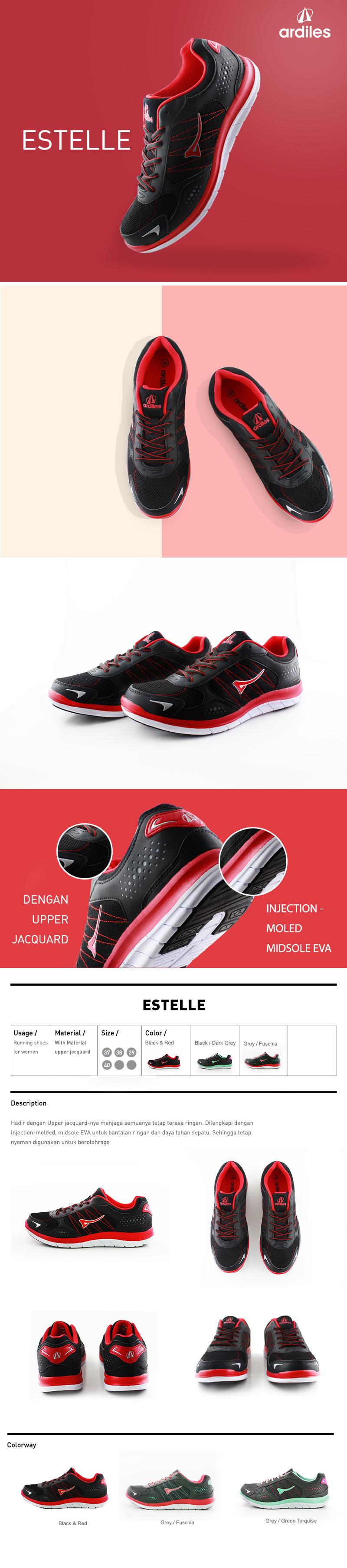 Harga Ardiles Fg Teaberry 01 Women Running Shoes Abu Muda 37 Men Articuno Grey Black 41 Estelle Hitam Merah Woman Daftar Terbaru