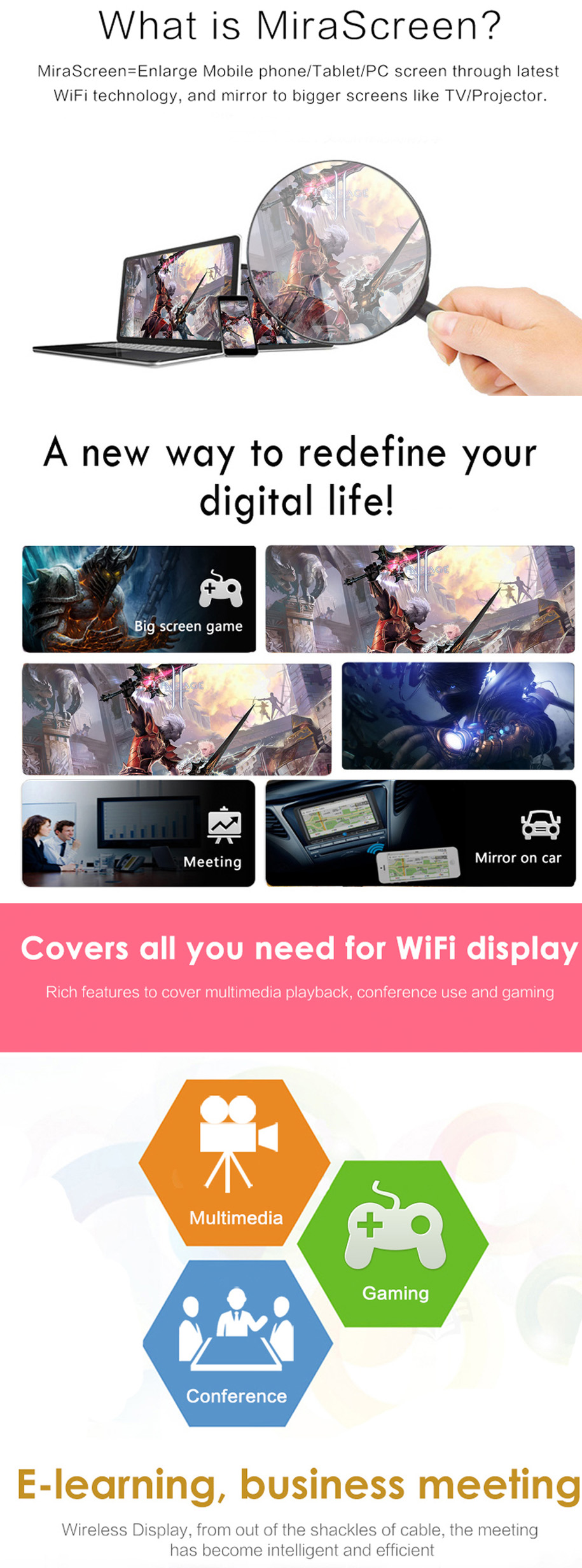 Every Need Want Day Anycast M4 Plus Wi Fi Display Receiver Dlna Airplay Miracast Airmirroring